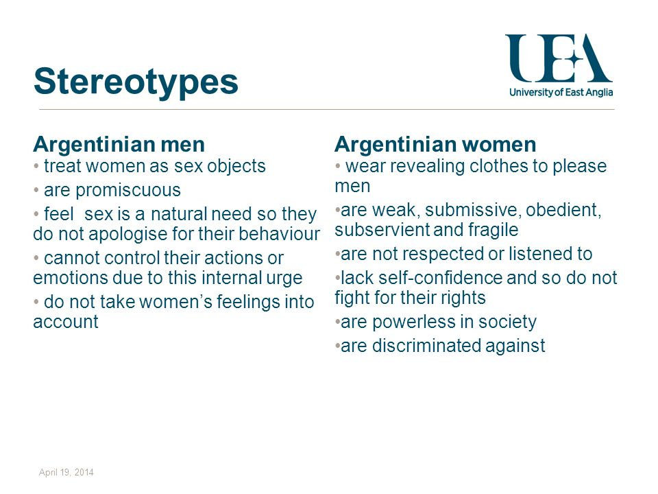 Stereotypes Argentinian men Argentinian women