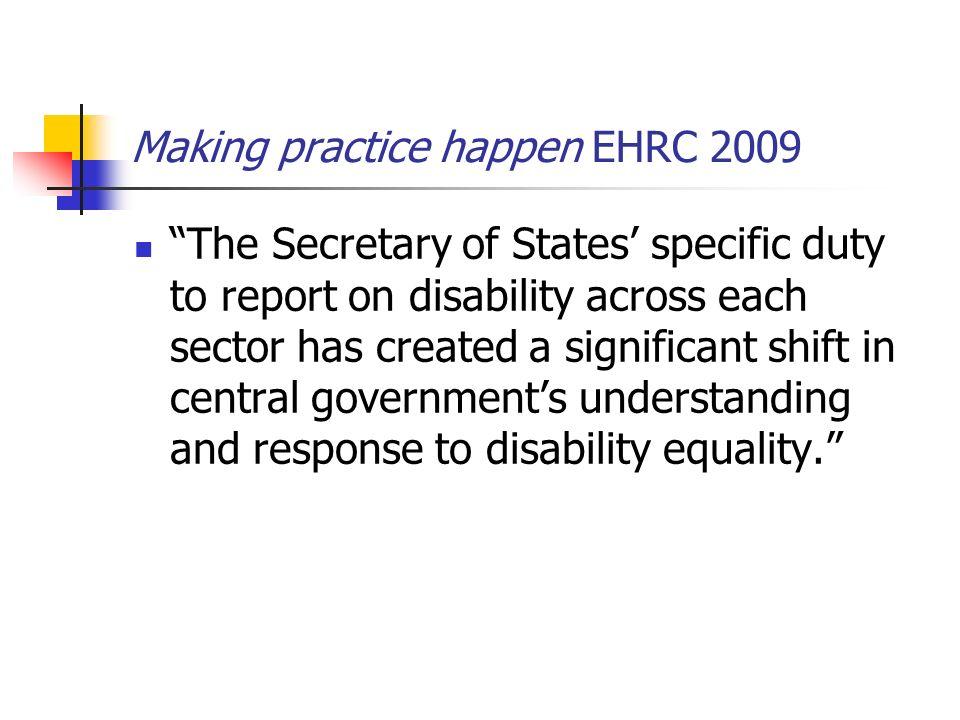 Making practice happen EHRC 2009