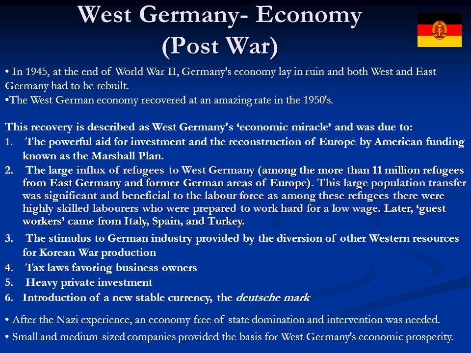 West Germany- Economy (Post War)