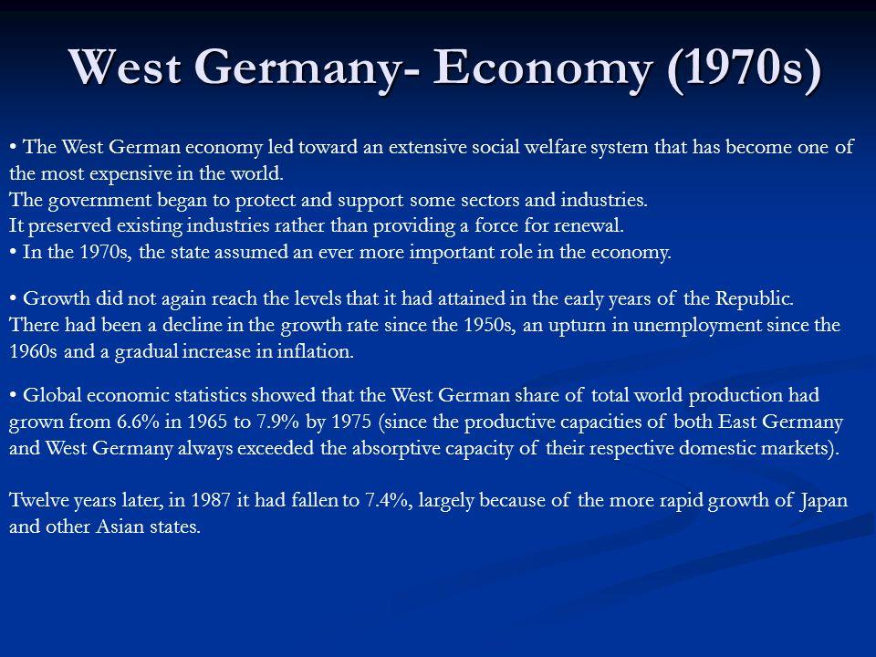 West Germany- Economy (1970s)