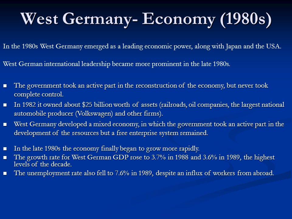 West Germany- Economy (1980s)