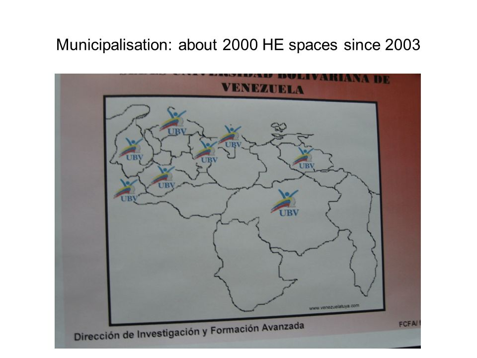 Municipalisation: about 2000 HE spaces since 2003