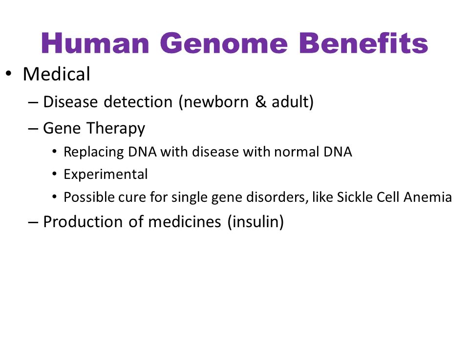 the benefits of the human genome project The human genome project is a very ambitious and costly project but it was definitely worth the time and money invested in it the human genome project is crucial for the further development of gene therapy and the treatment of genetic diseases.