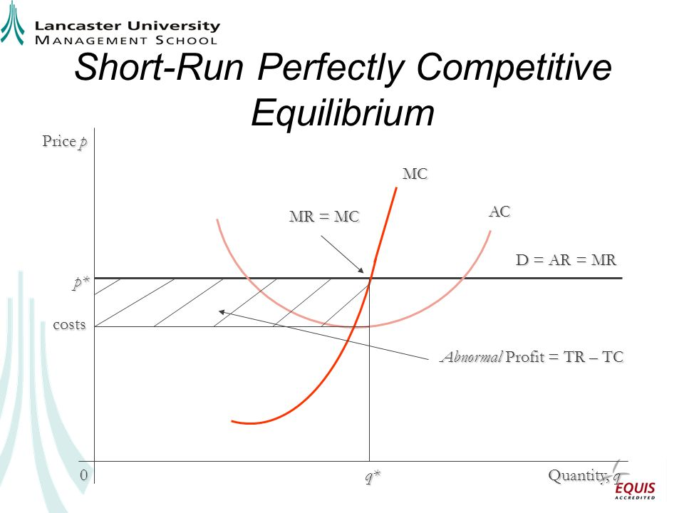 Short-Run Perfectly Competitive Equilibrium