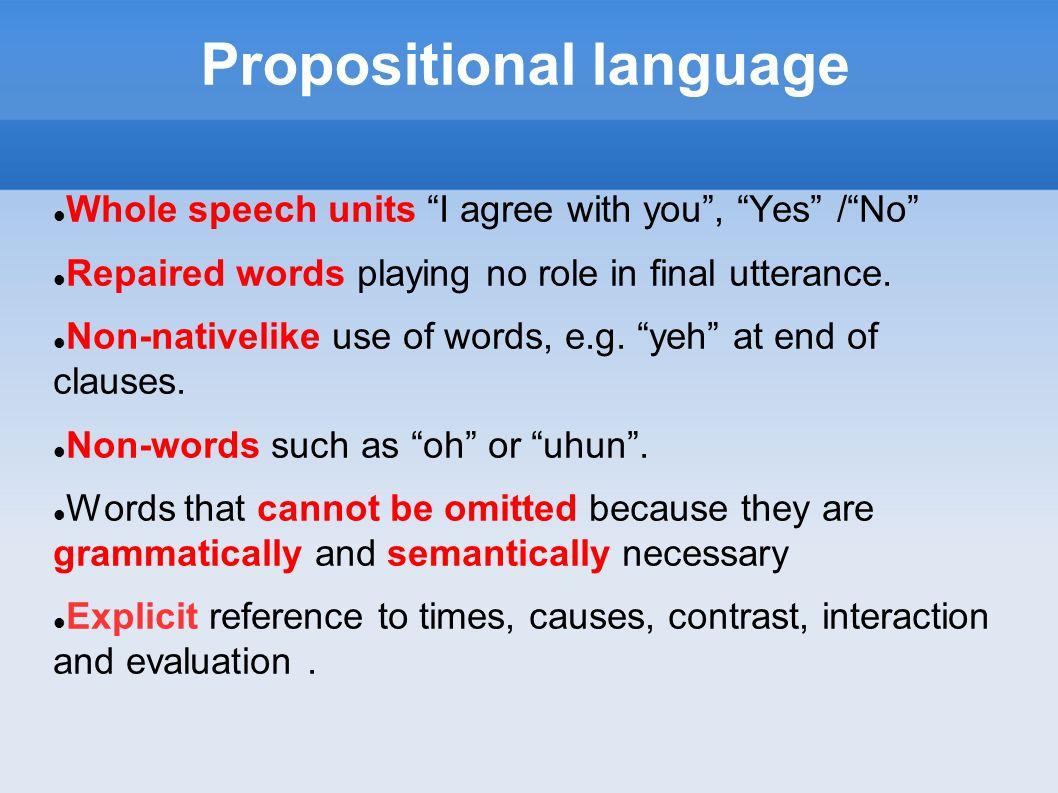 Propositional language