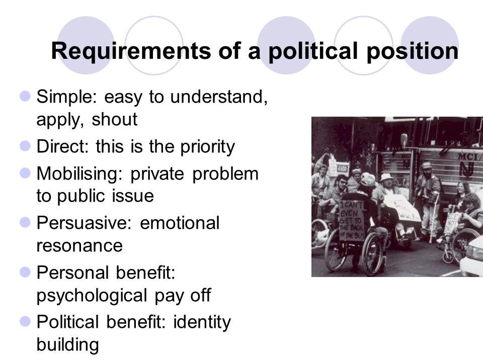 Requirements of a political position