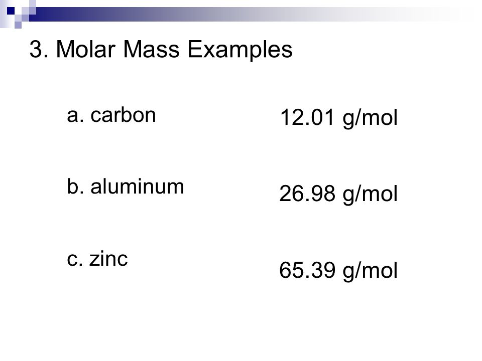 mole examples The mole concept with examples atomic mass unit with examples since atoms  are too small particles we can not measure their weights with normal methods.