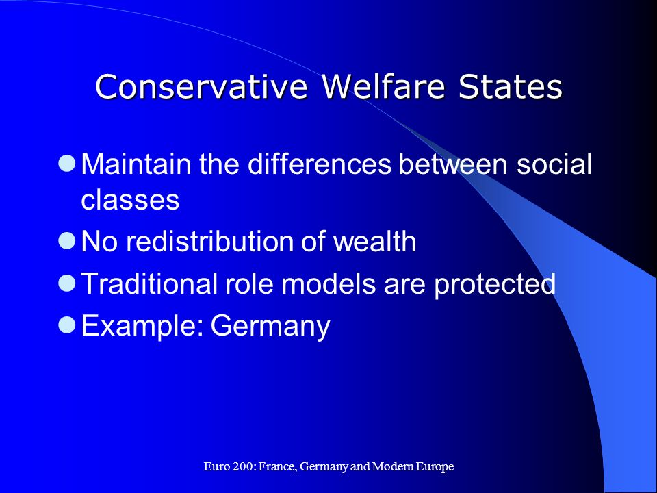 Conservative Welfare States