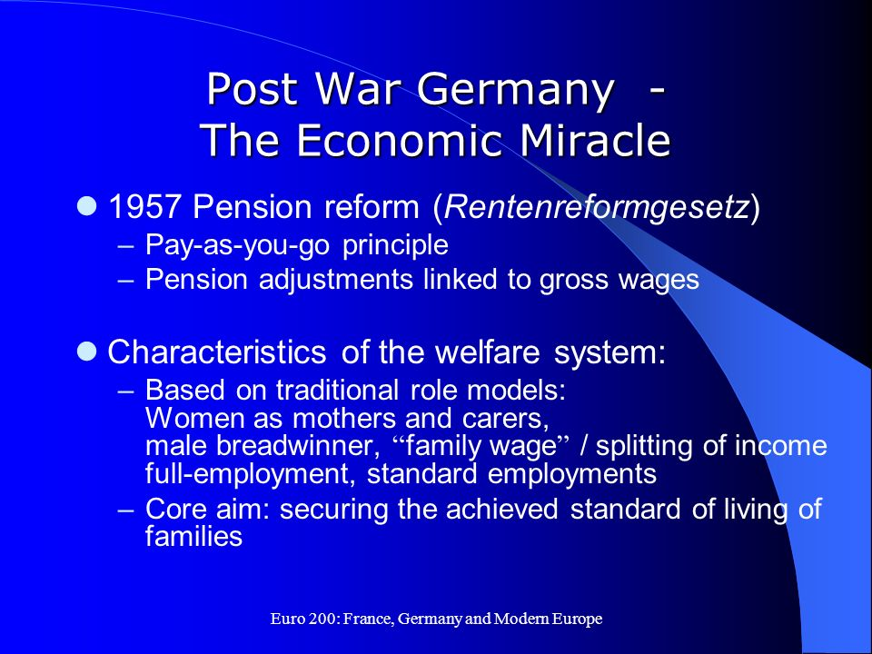 Post War Germany - The Economic Miracle