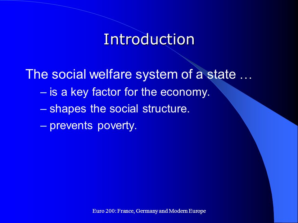 The european welfare system