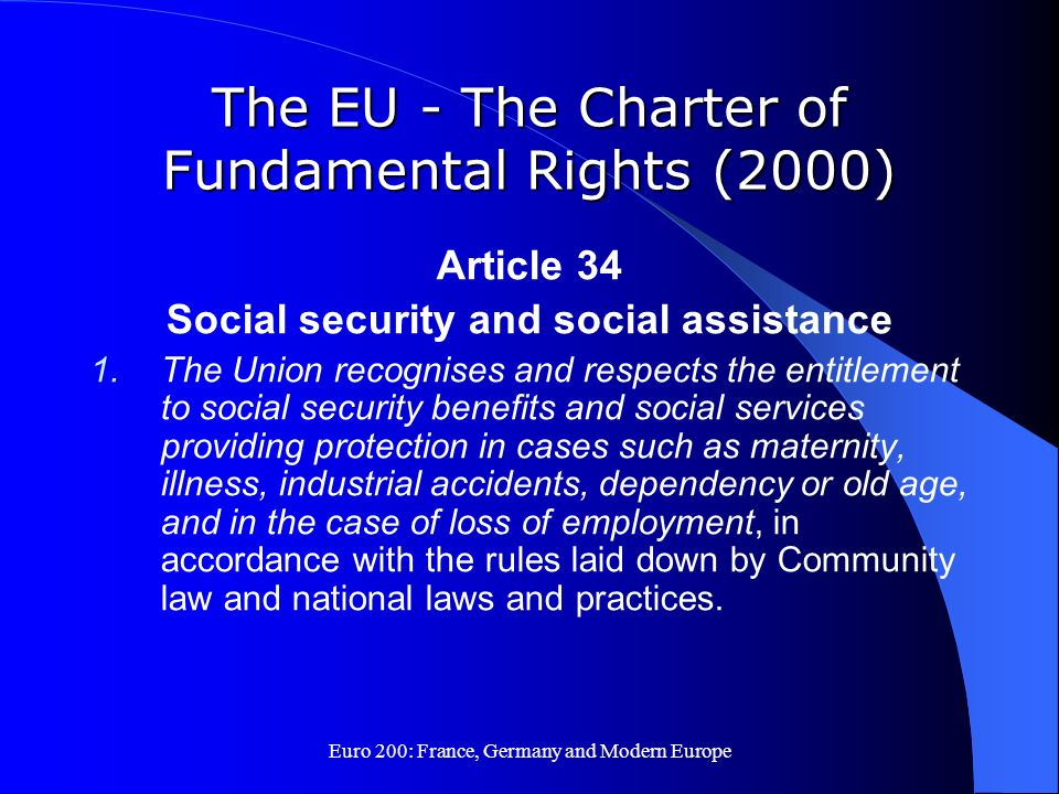 The EU - The Charter of Fundamental Rights (2000)