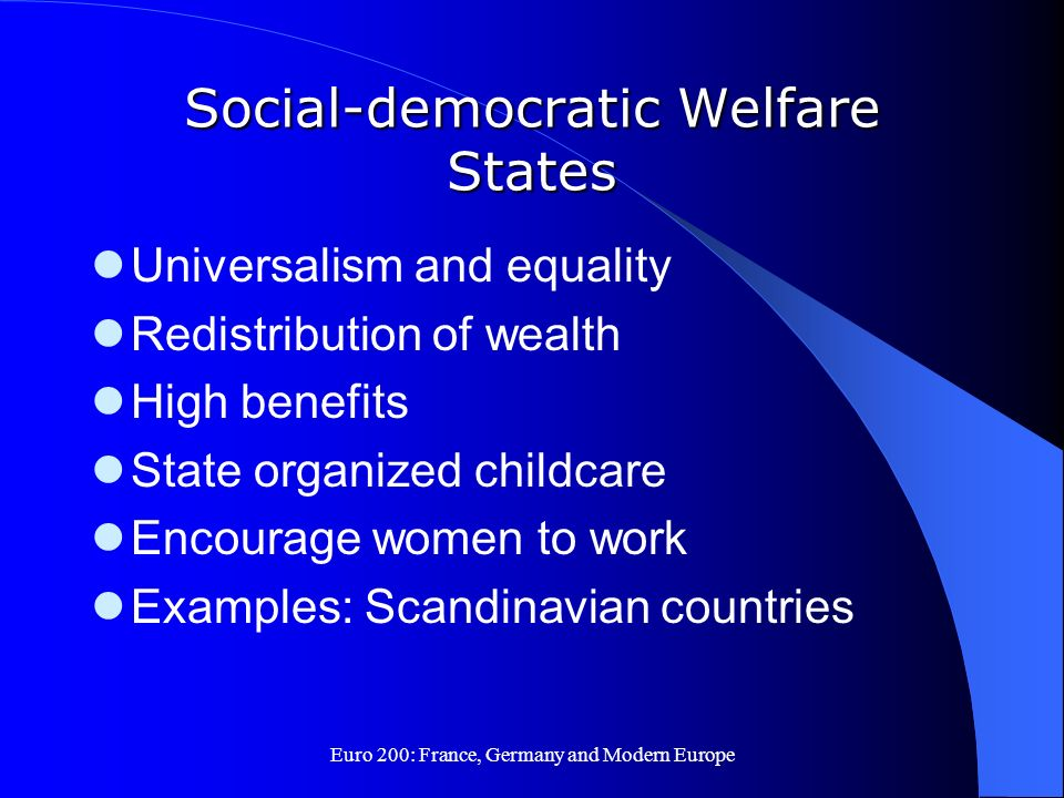 Social-democratic Welfare States