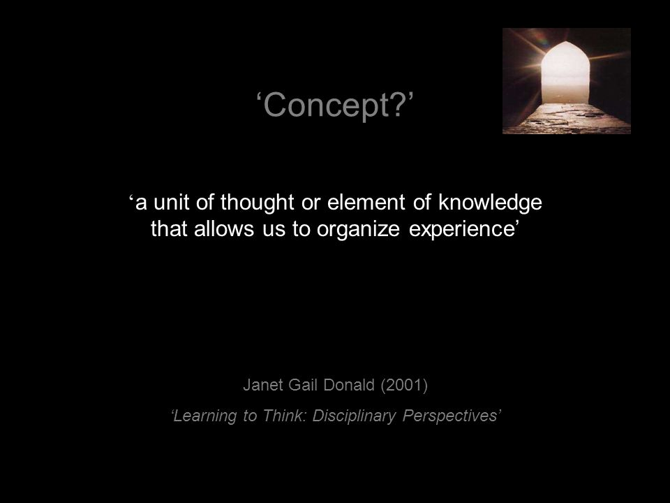 'Learning to Think: Disciplinary Perspectives'