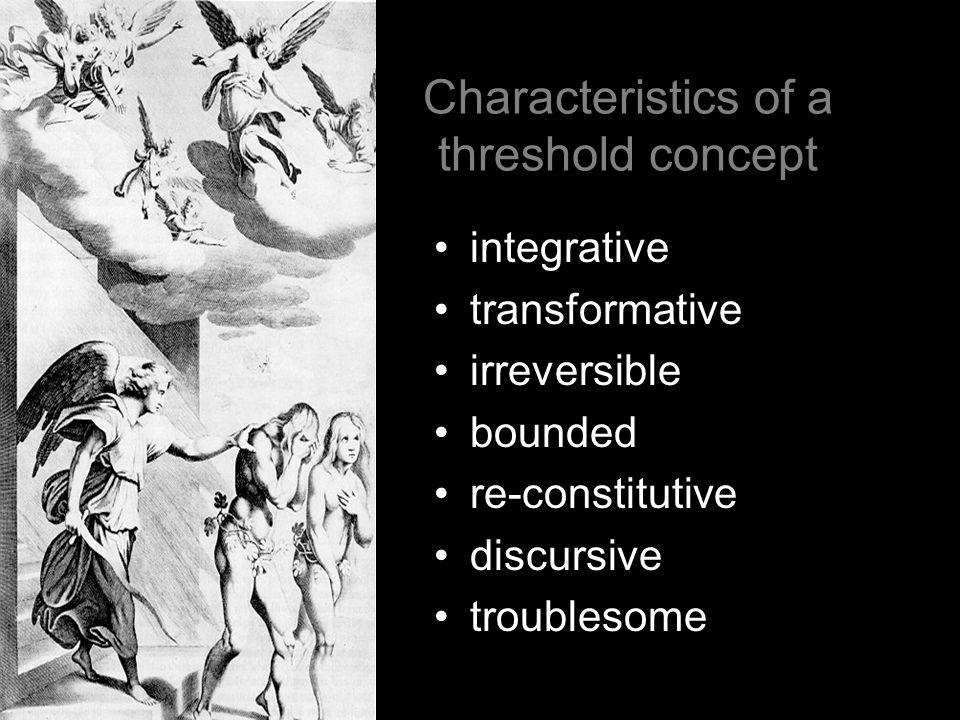 Characteristics of a threshold concept