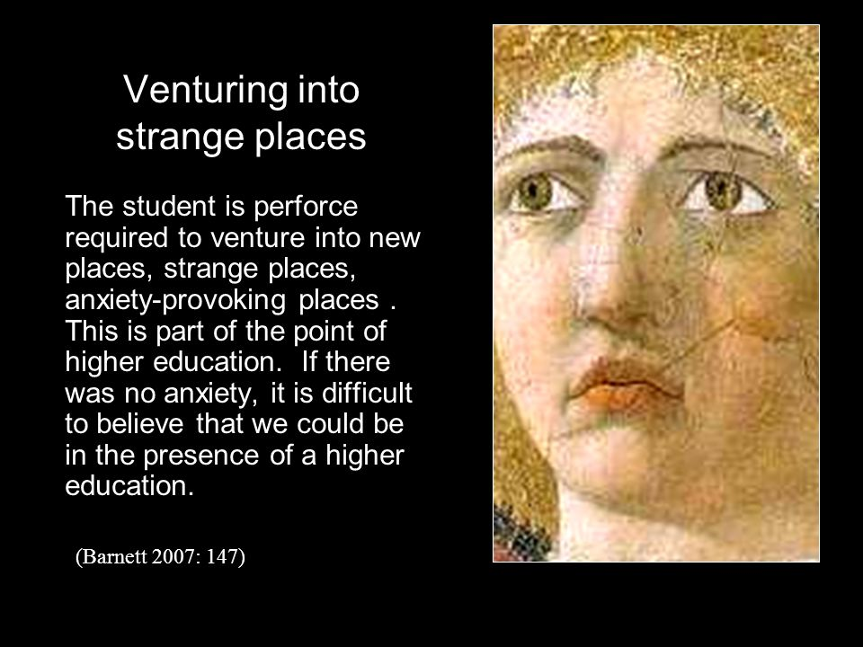 Venturing into strange places