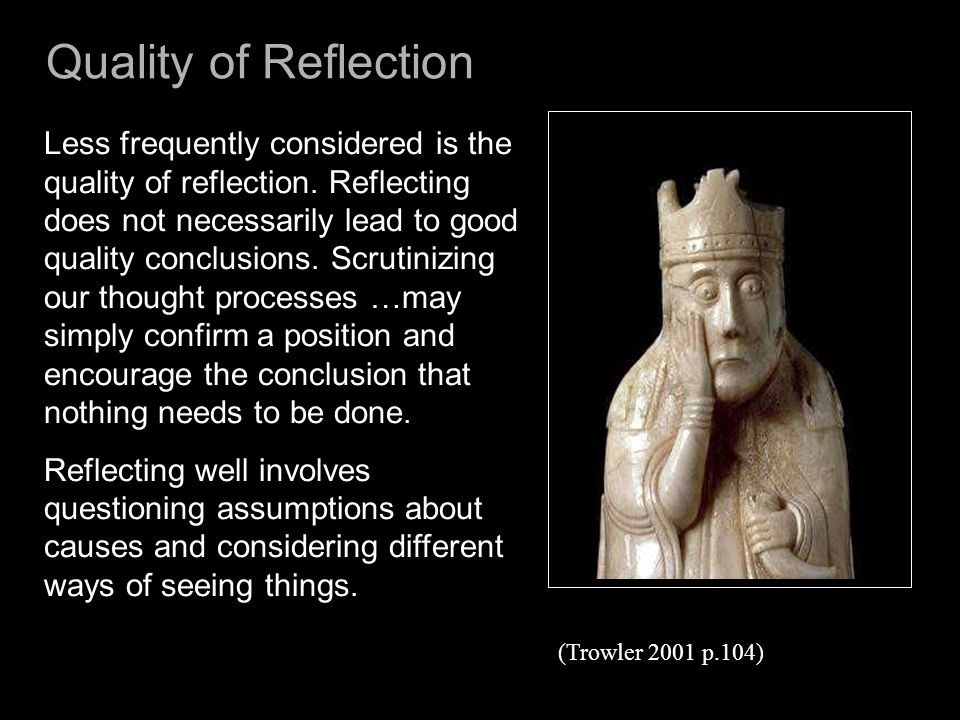 Quality of Reflection