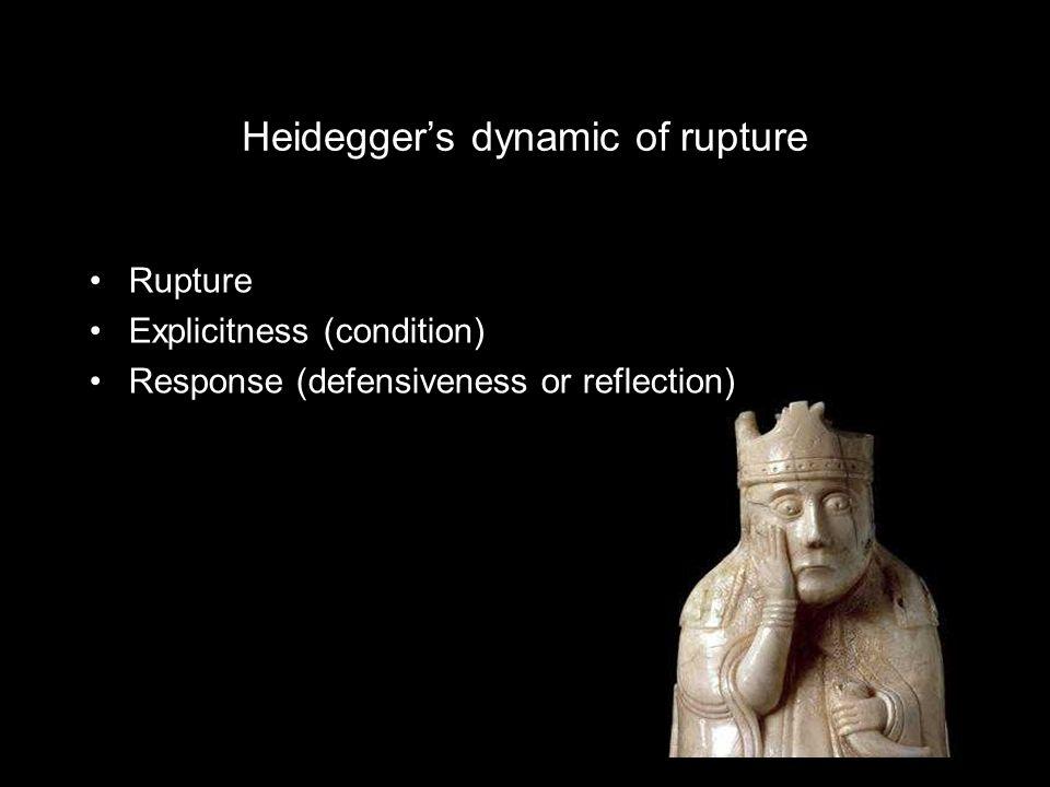 Heidegger's dynamic of rupture