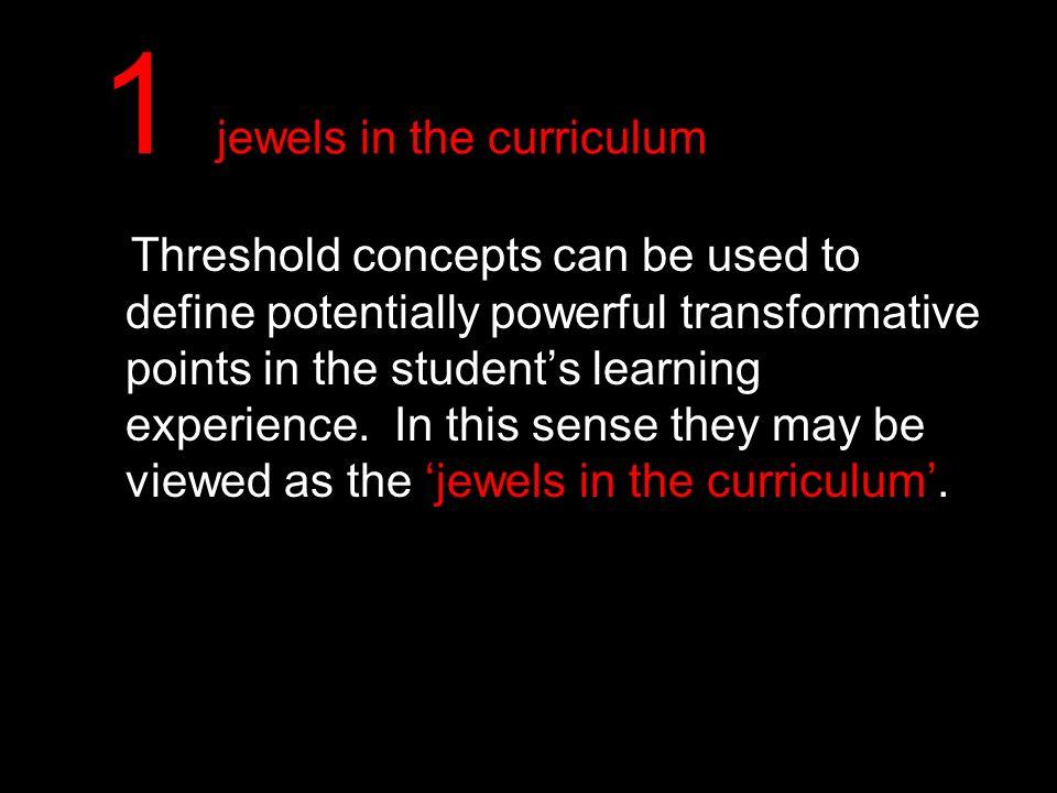 1 jewels in the curriculum