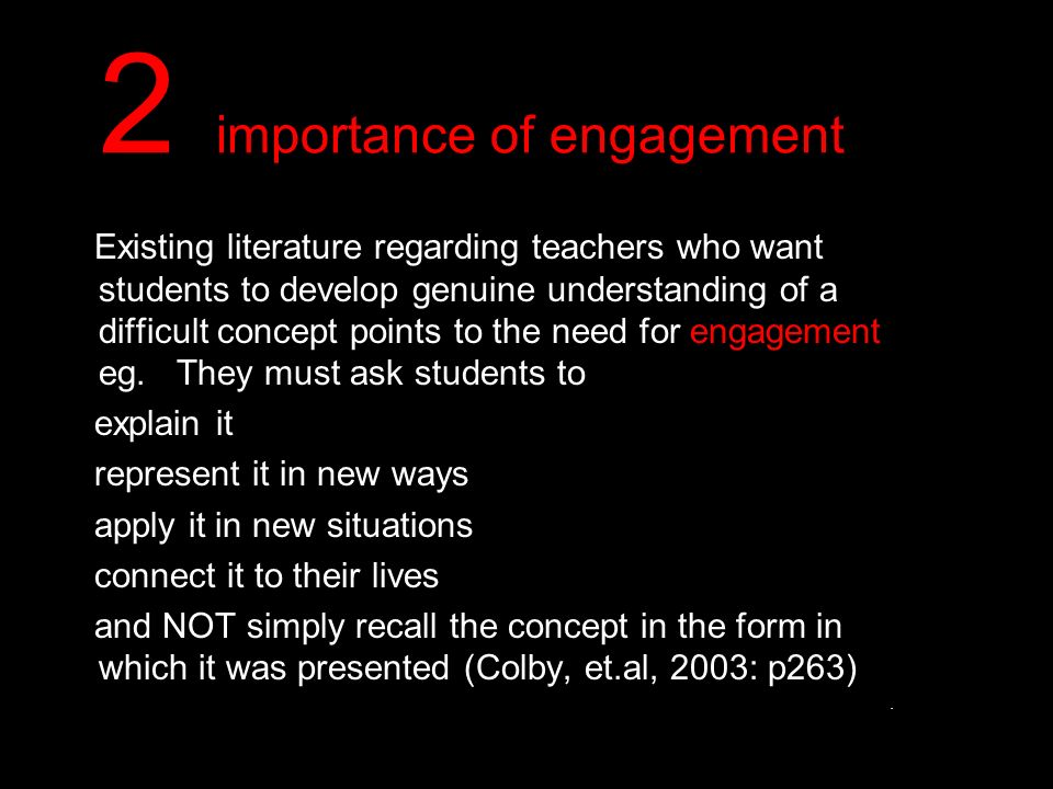 2 importance of engagement