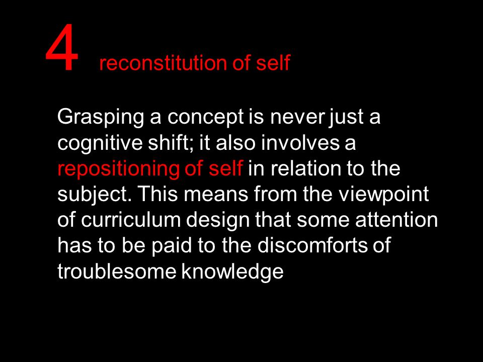 4 reconstitution of self