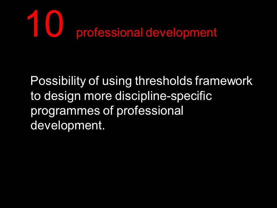 10 professional development