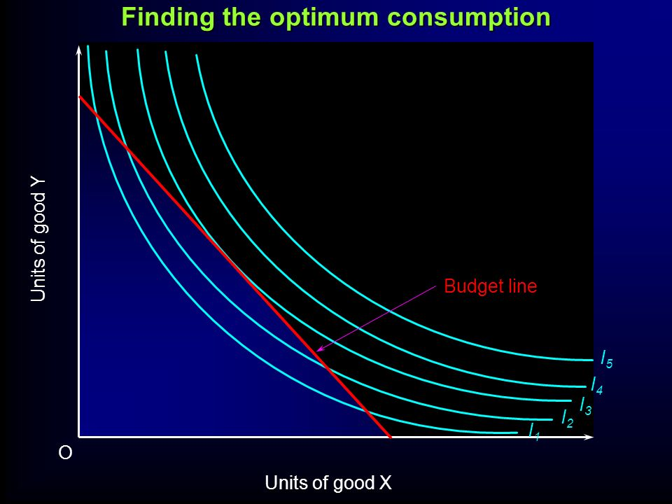 Finding the optimum consumption