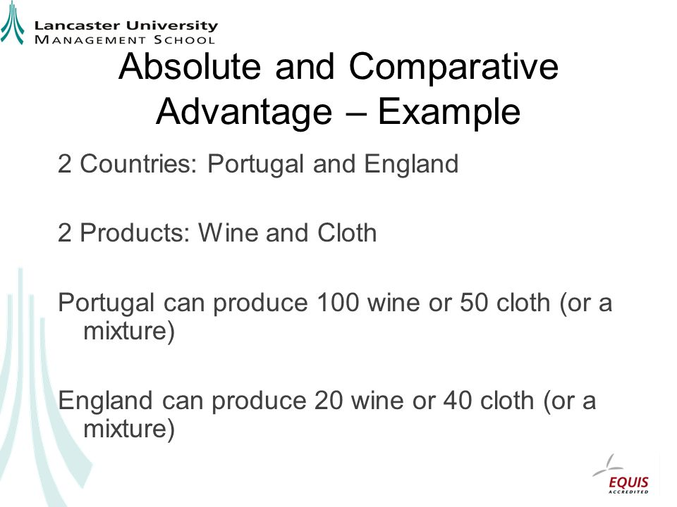 Absolute and Comparative Advantage – Example