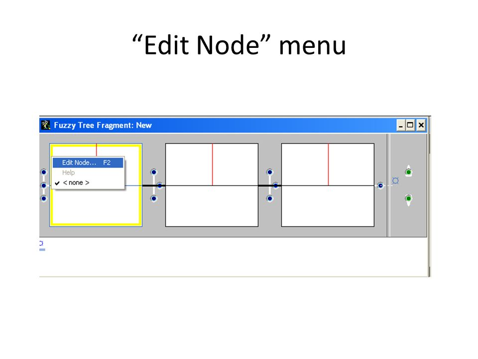 Edit Node menu