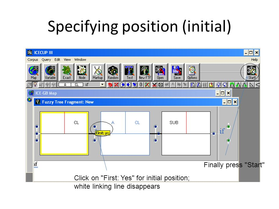 Specifying position (initial)