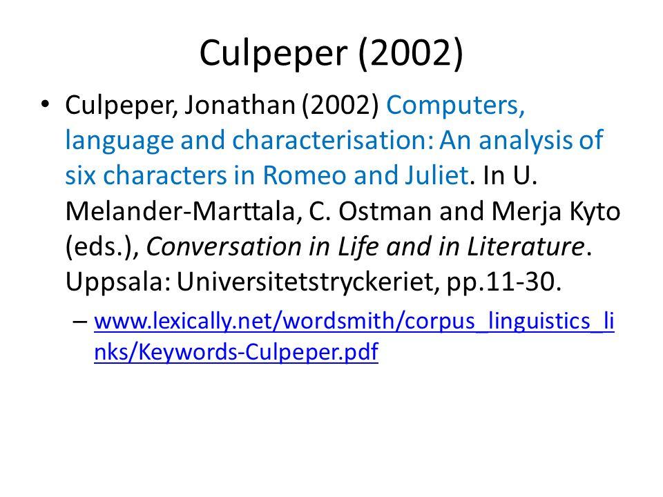 Culpeper (2002)