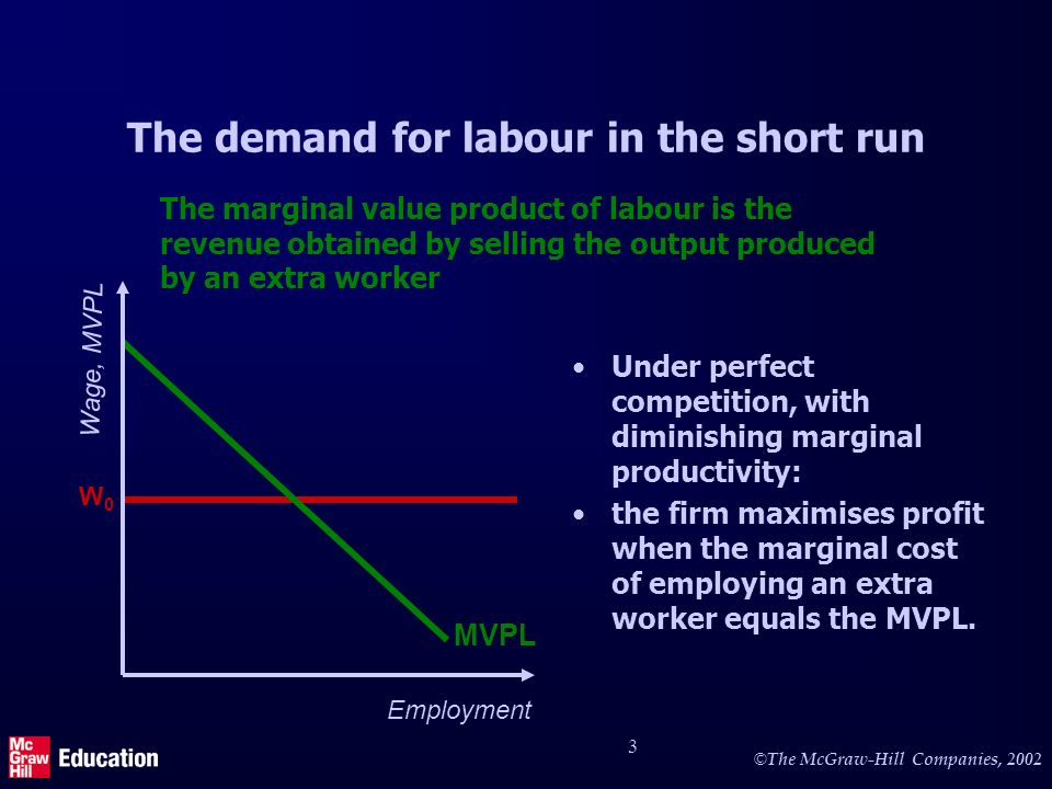 The demand for labour in the short run