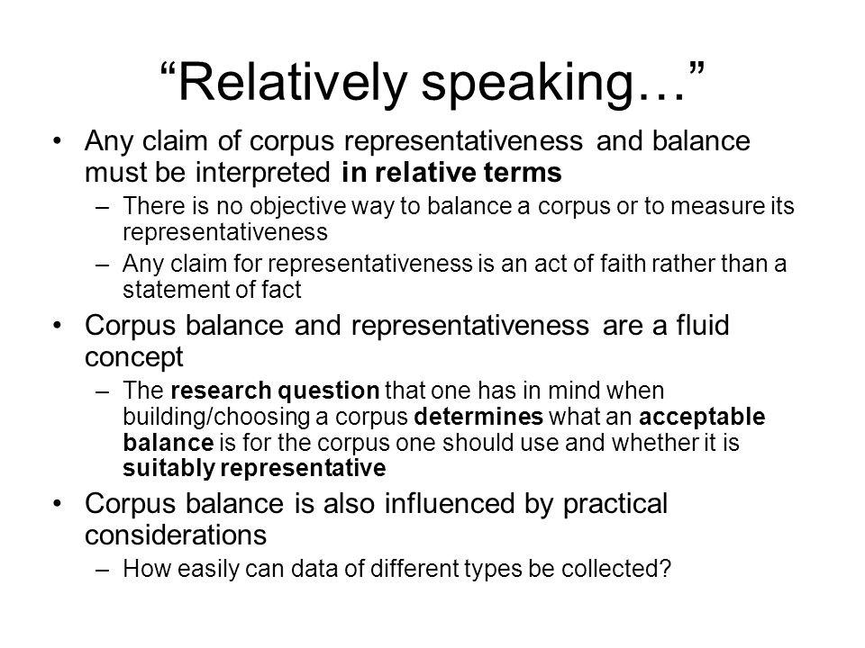 Relatively speaking…
