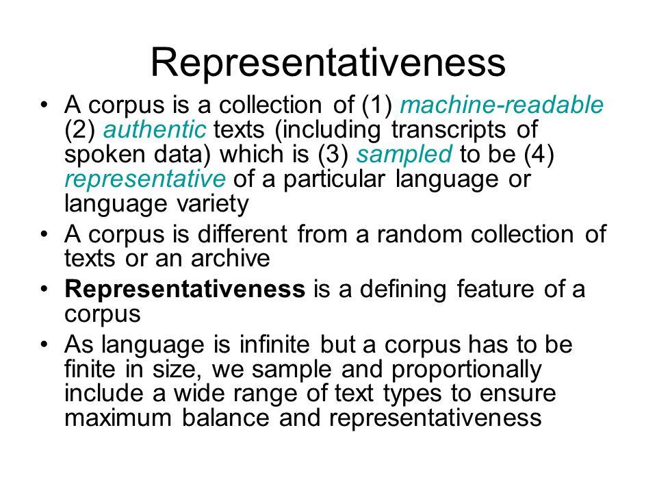 Representativeness
