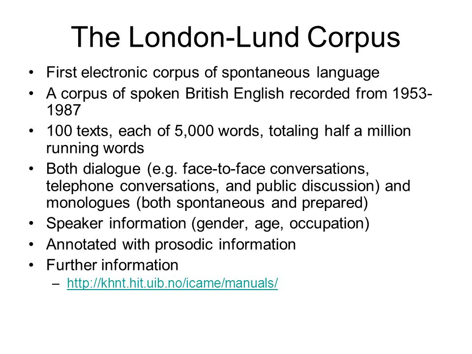 The London-Lund Corpus