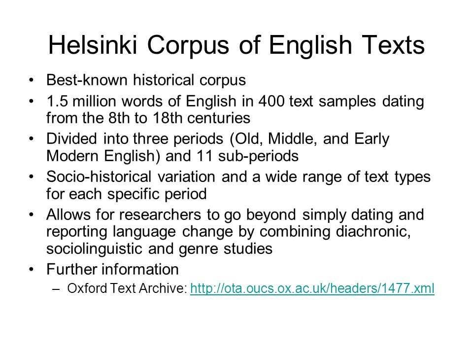 Helsinki Corpus of English Texts
