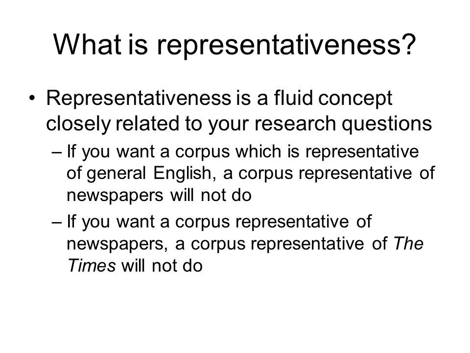 What is representativeness
