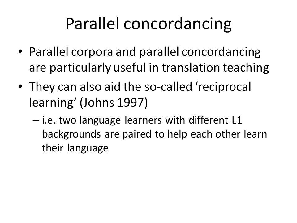 Parallel concordancing