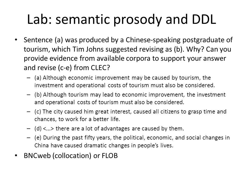 Lab: semantic prosody and DDL