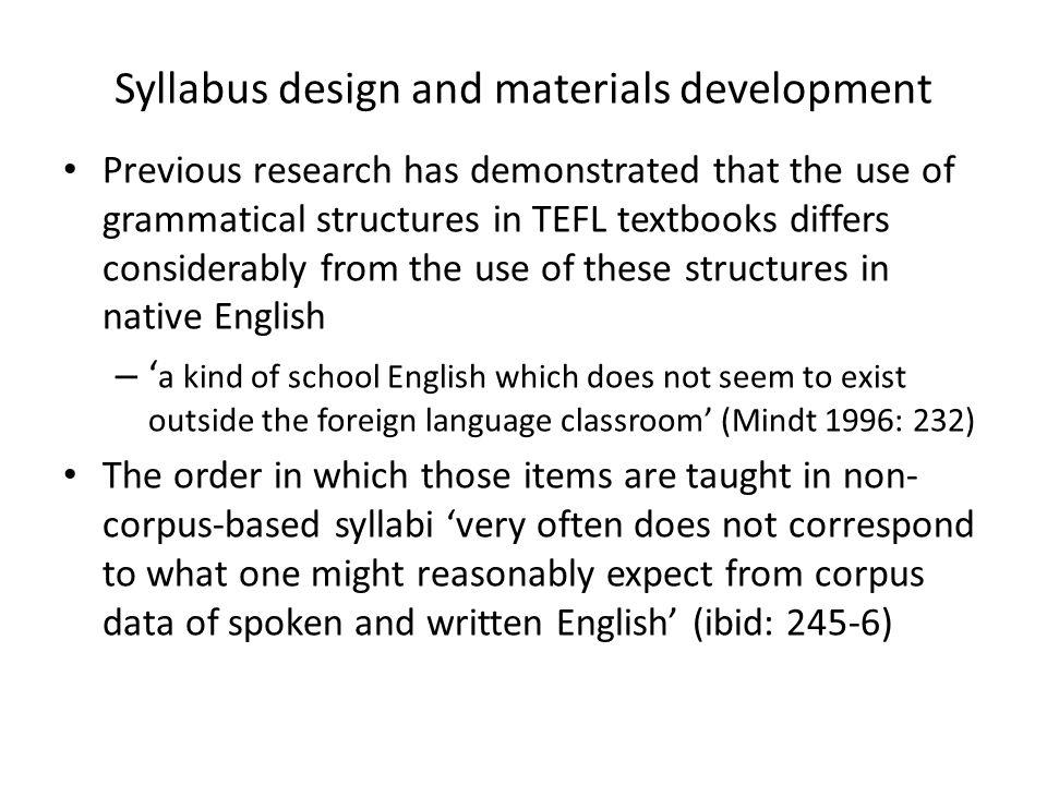 Syllabus design and materials development