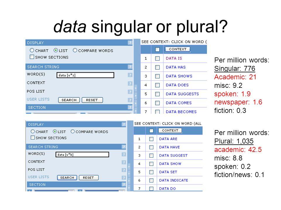 data singular or plural