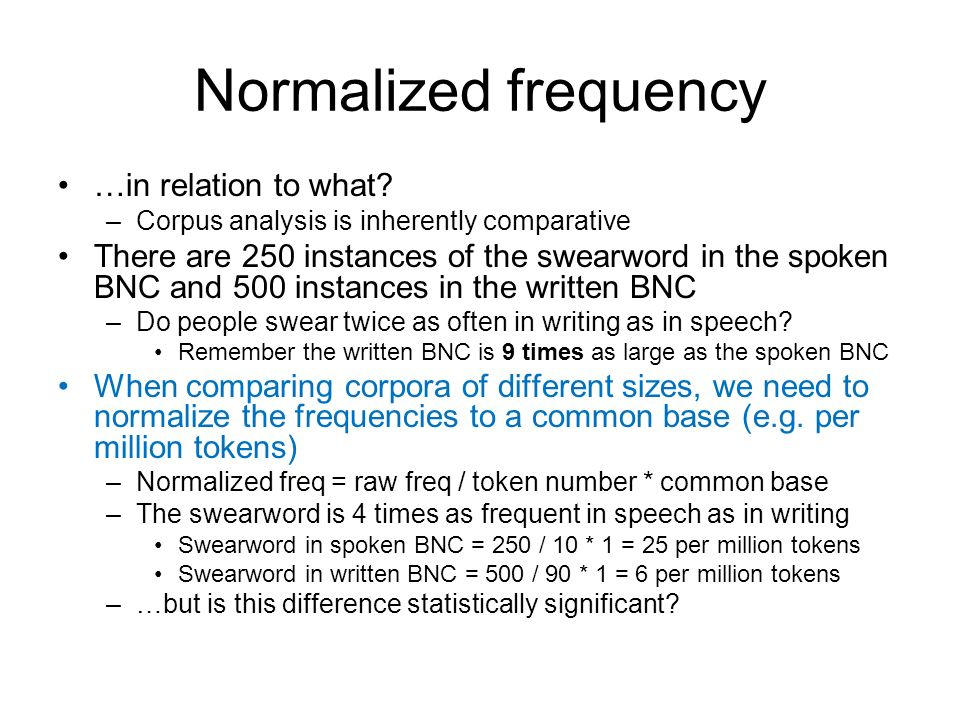 Normalized frequency …in relation to what