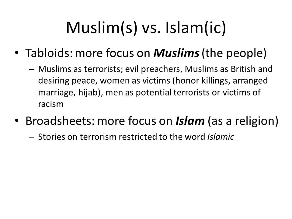 Muslim(s) vs. Islam(ic)