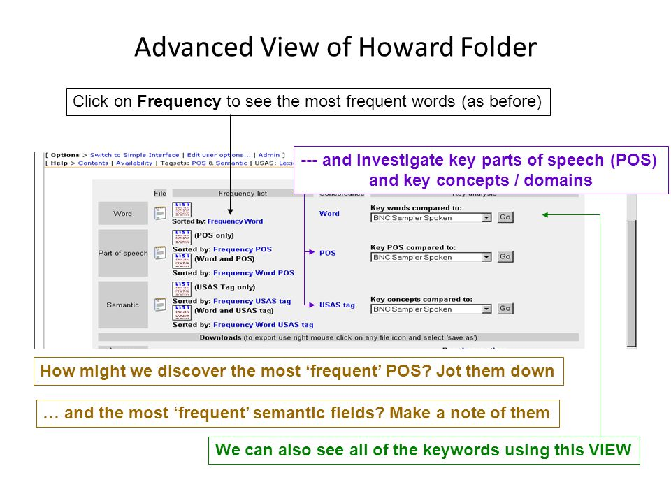 Advanced View of Howard Folder