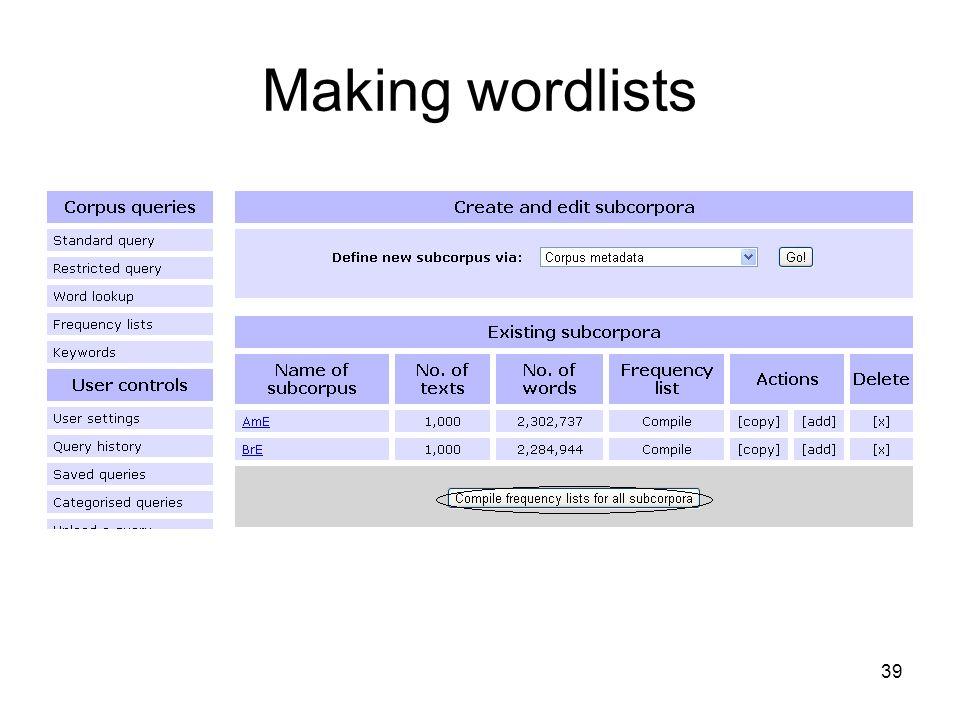 Making wordlists