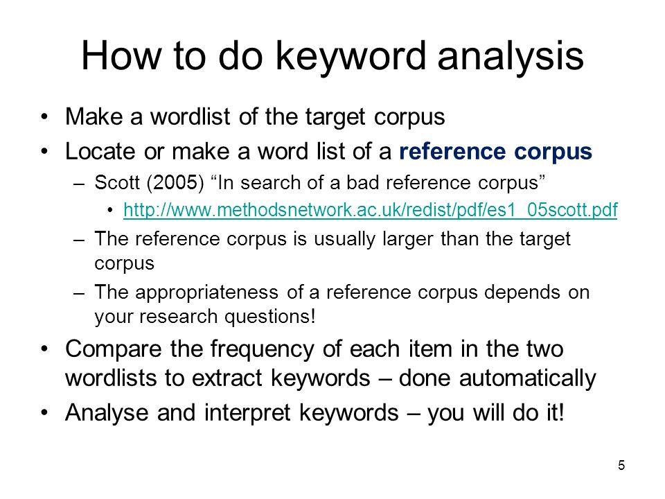 How to do keyword analysis
