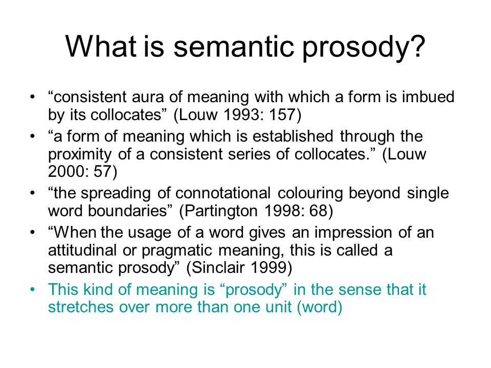 What is semantic prosody