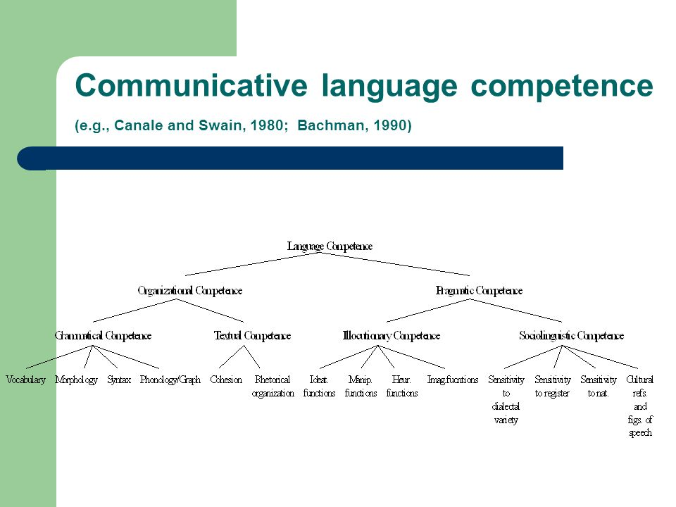 Communicative language competence (e. g