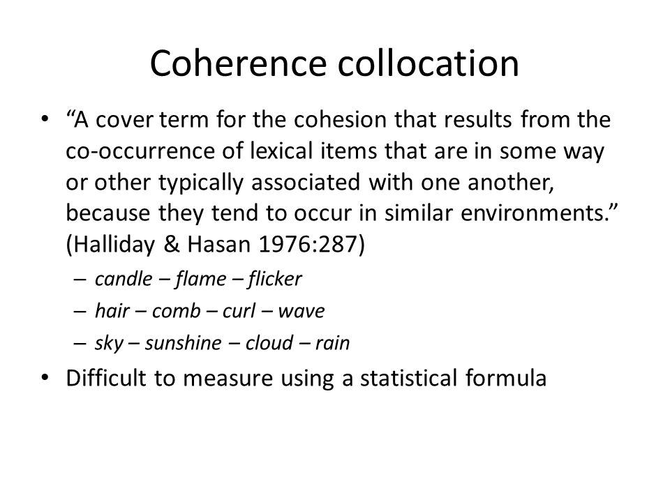 Coherence collocation