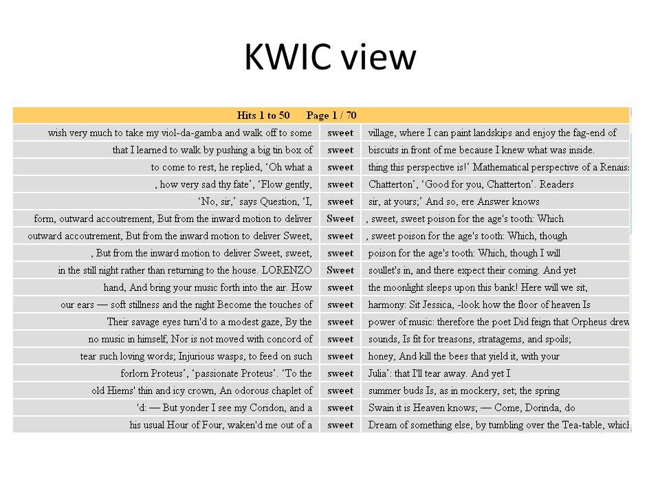 KWIC view