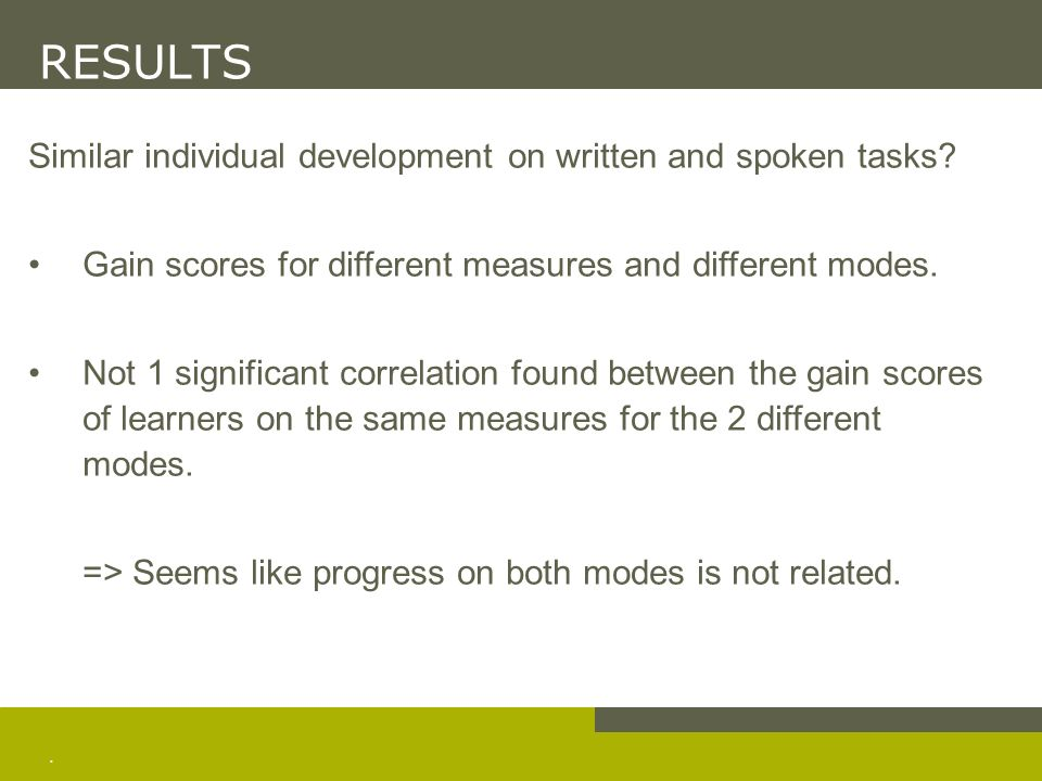 CONCLUSIONS Summary Development of lexical proficiency: